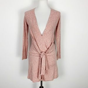 Free People Small Pink Tie Waist Top Stretch Tie